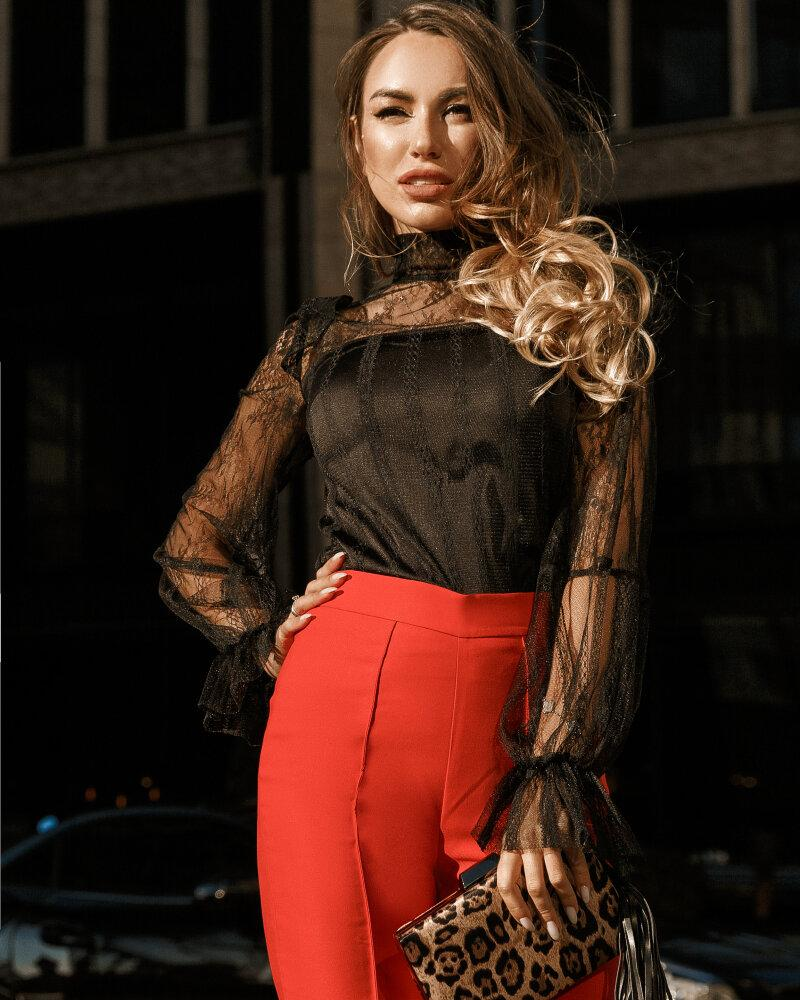 Блуза з ажурними рукавами от Gepur