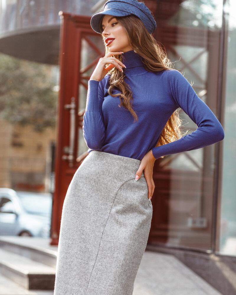 Шерстяная классическая юбка фото