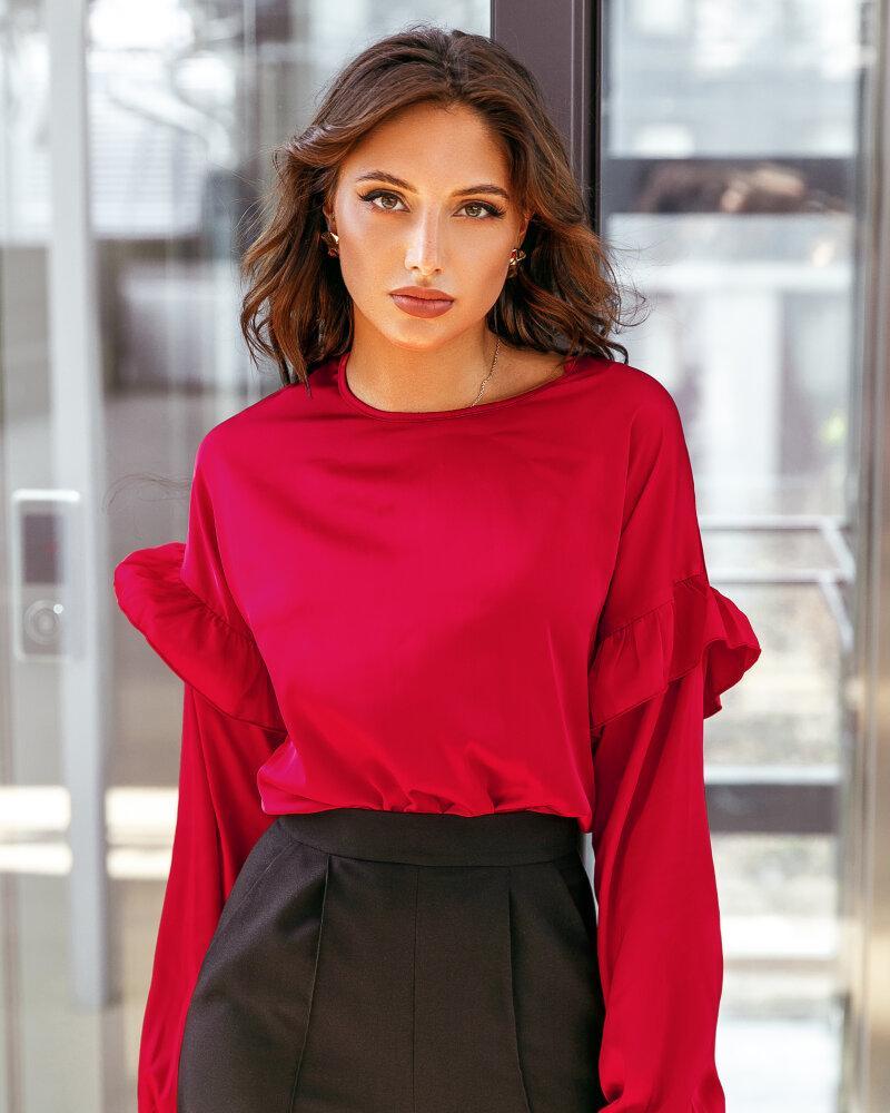 Купить Bluzy-rubashki_bluzy-rubashki-bolshie-razmery, Блуза с эффектными рукавами, Gepur