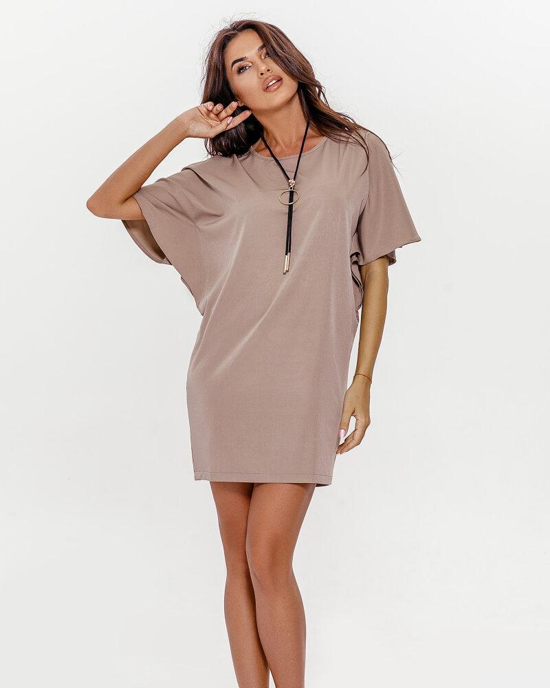 Бежевое платье-мини