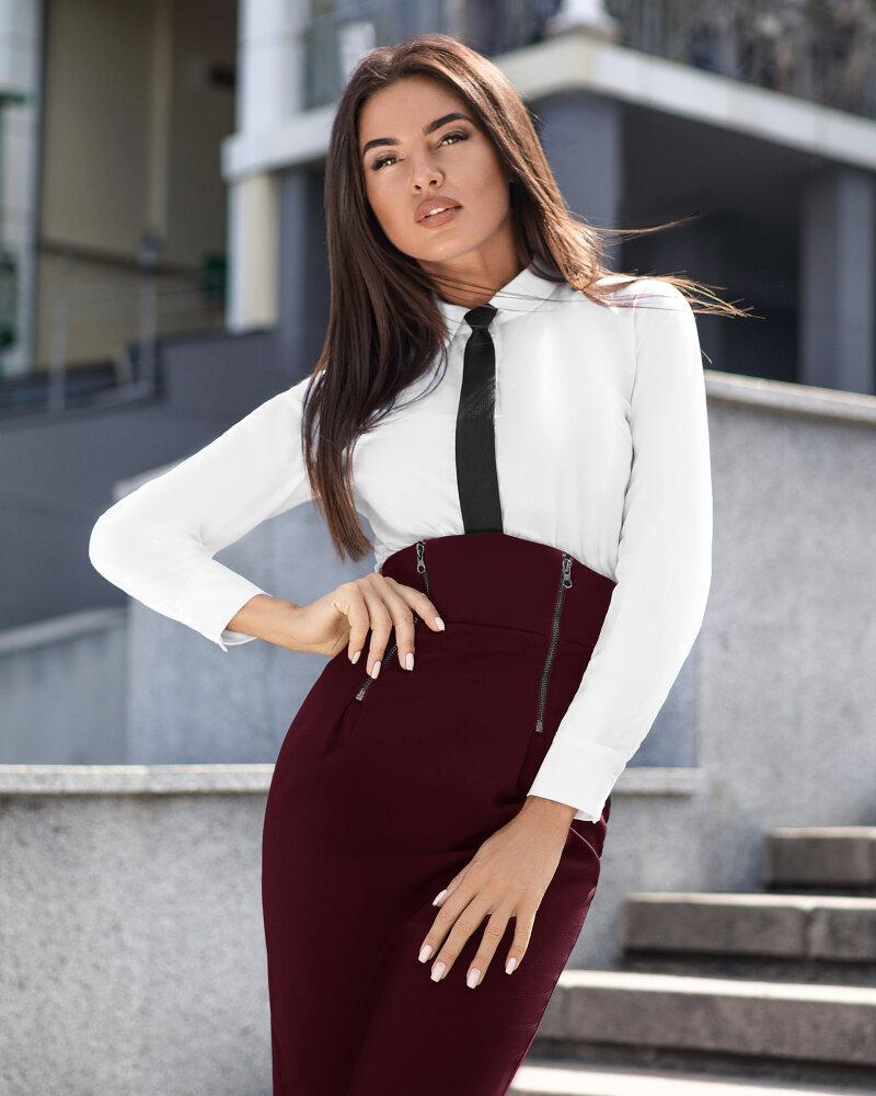 Высокая офисная юбка