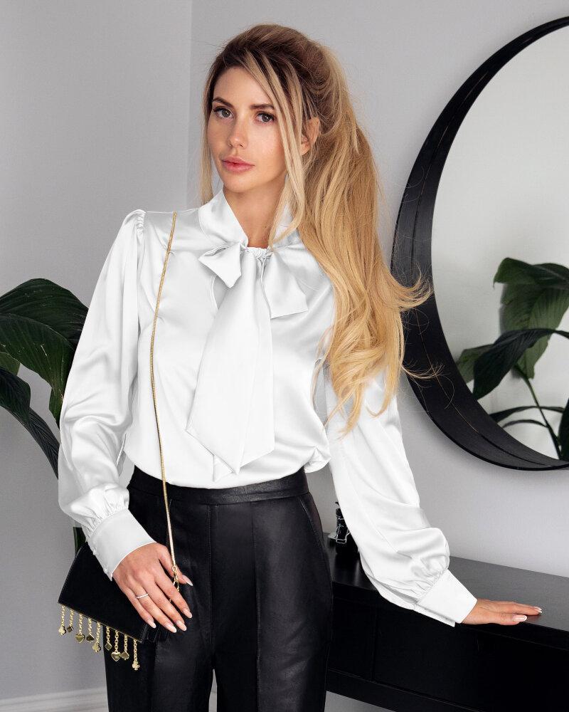 Классическая шелковая блуза фото
