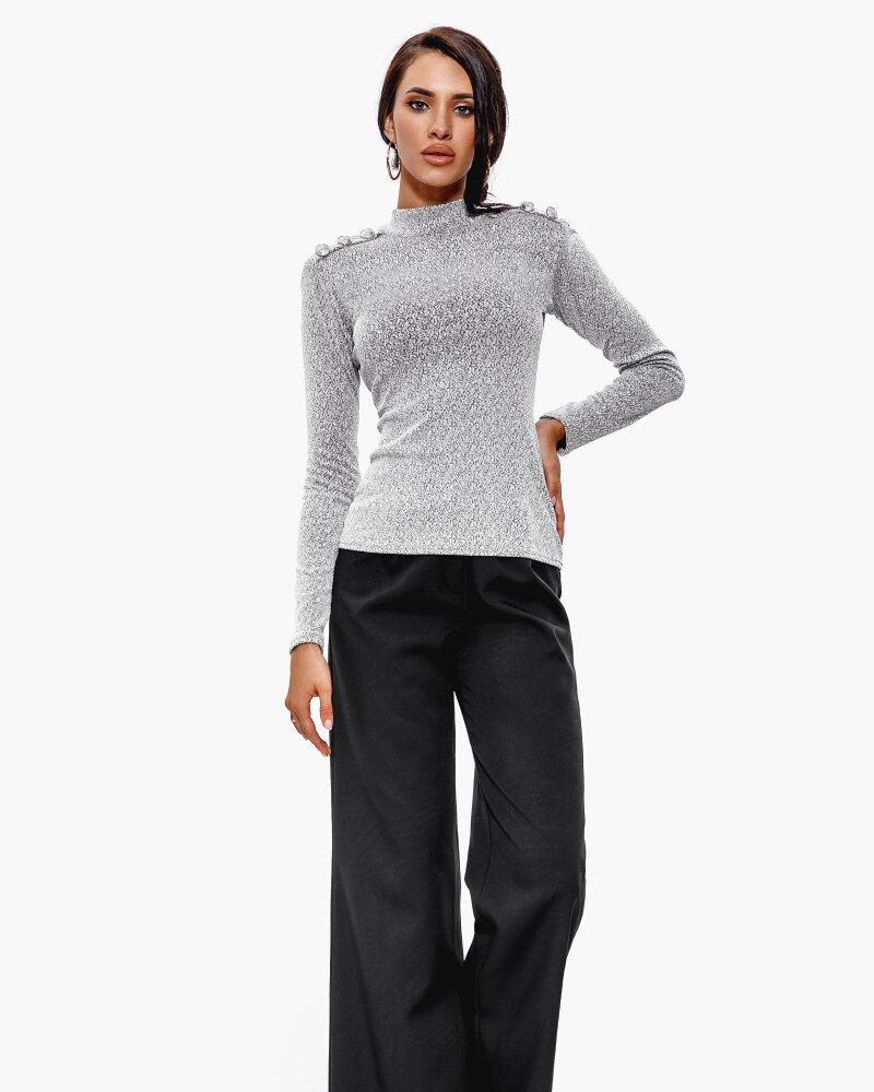 Купить Bryuki-leggensy-shorty_sportivnye-shtany, Расклешенные черные брюки, Gepur