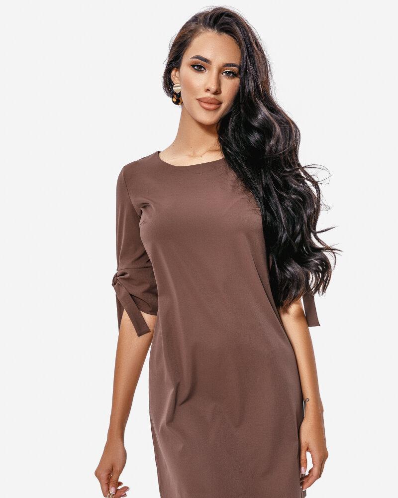 Платье шоколадного оттенка фото