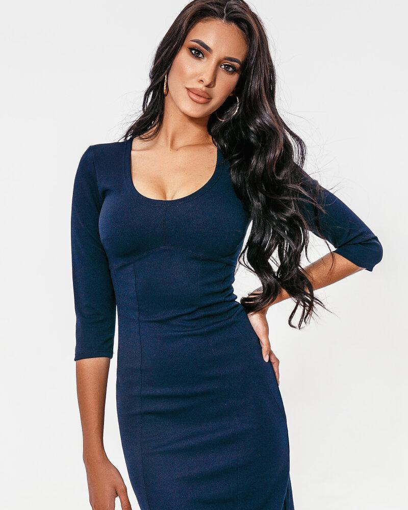 Трикотажное базовое платье фото