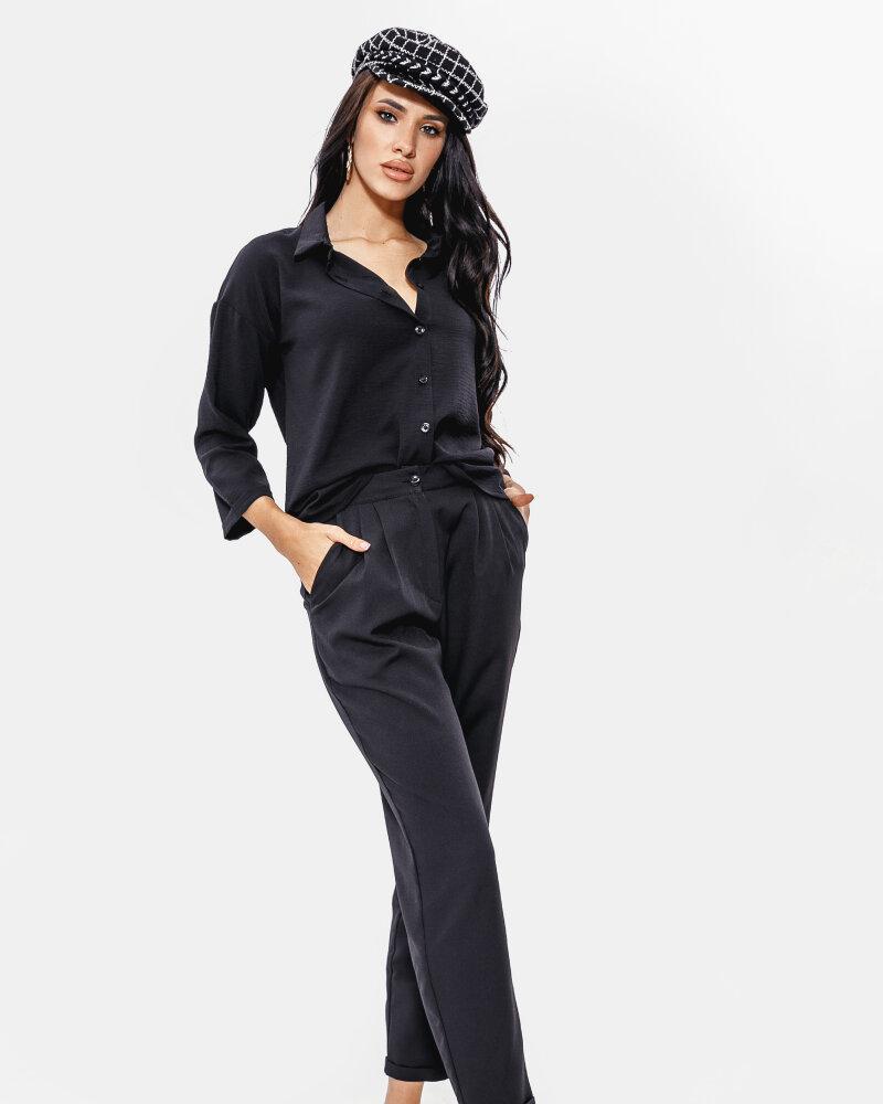 Купить Bryuki-leggensy-shorty_bryuki, Черные классические брюки, Gepur