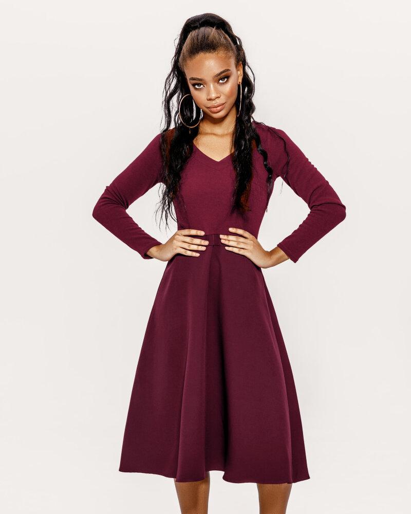 Расклешенное теплое платье фото