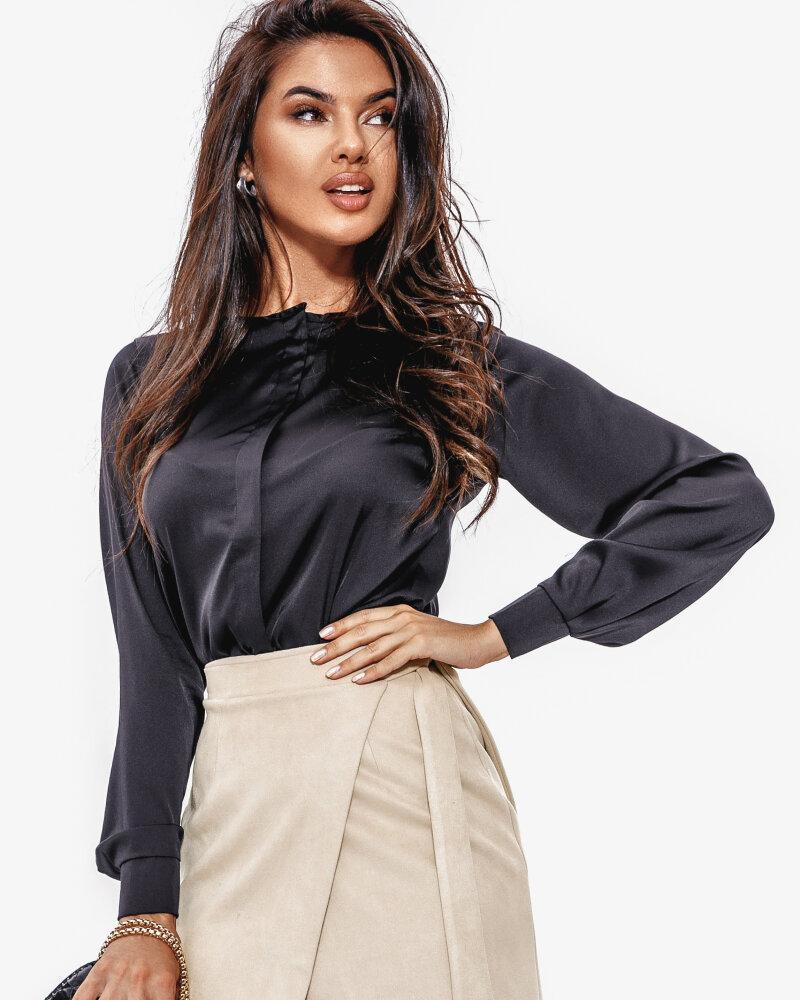 Шелковая строгая блуза фото