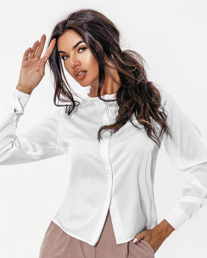 Белоснежная шелковая блуза фото