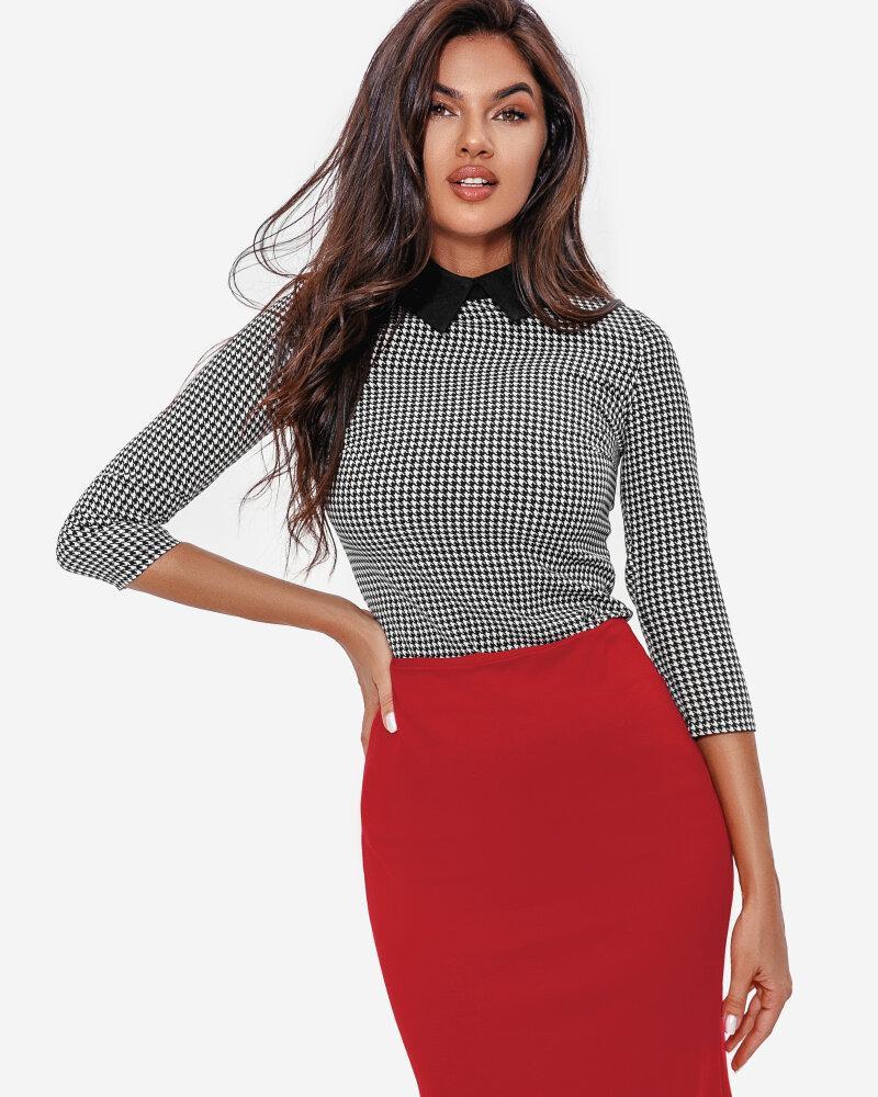 Яркая юбка в деловом стиле фото