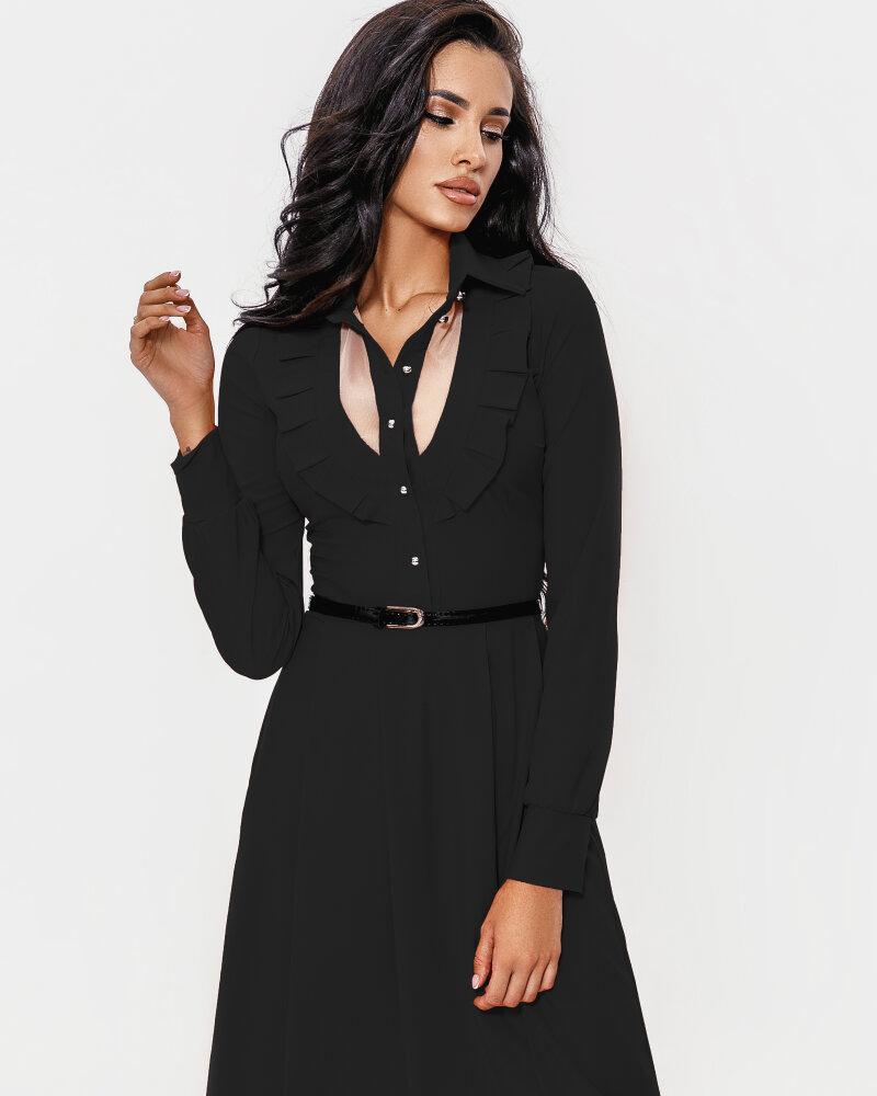 Расклешенное черное платье фото