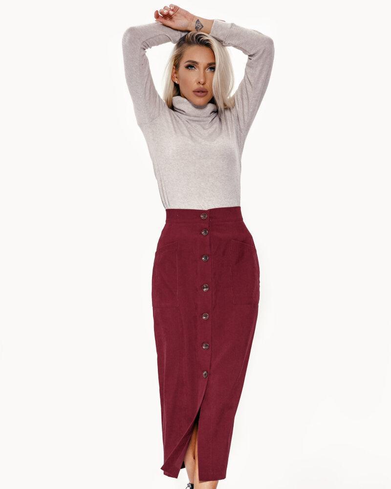 Вельветовая юбка-карандаш фото