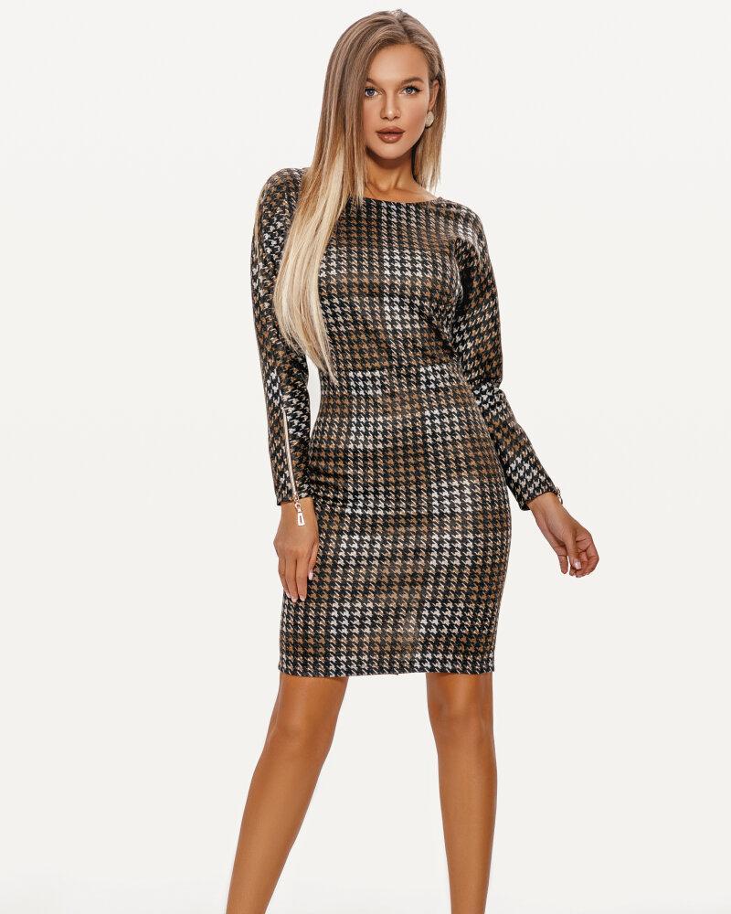 Облегающее платье-мини фото