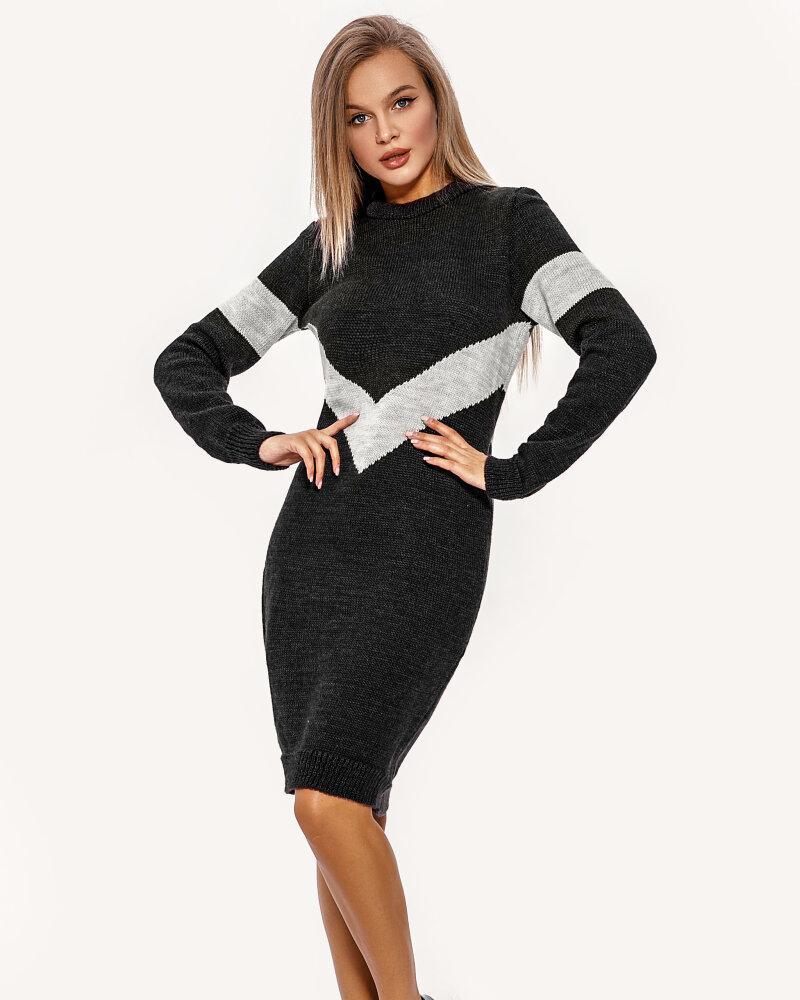 Купить Platya_teplye-platya, Вязаное двухцветное платье, Gepur