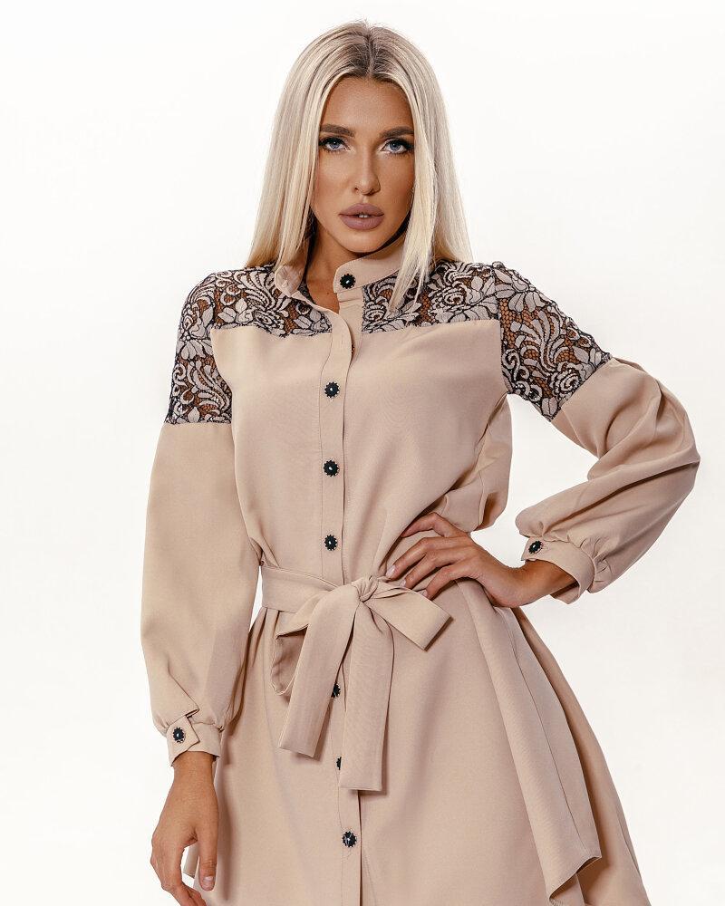 Купить Platya_platya-bolshih-razmerov, Платье с кружевной кокеткой, Gepur