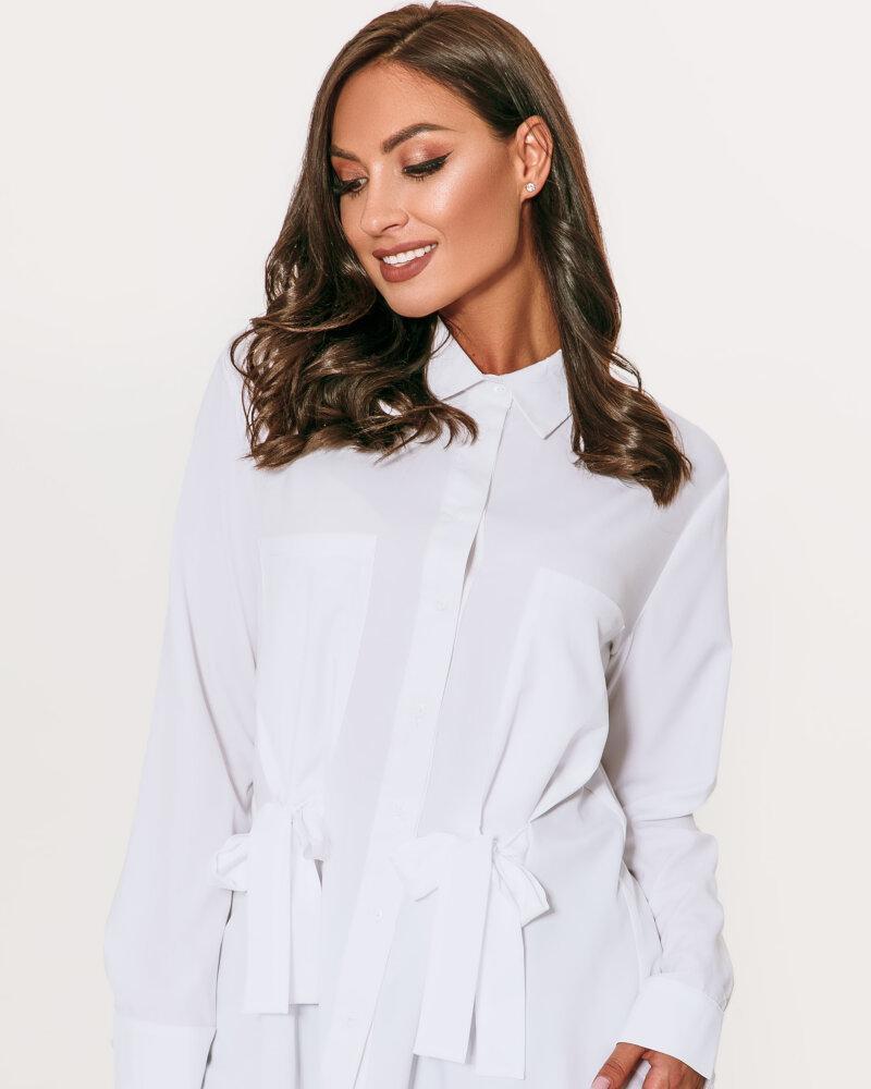 Белоснежная рубашка с завязками фото