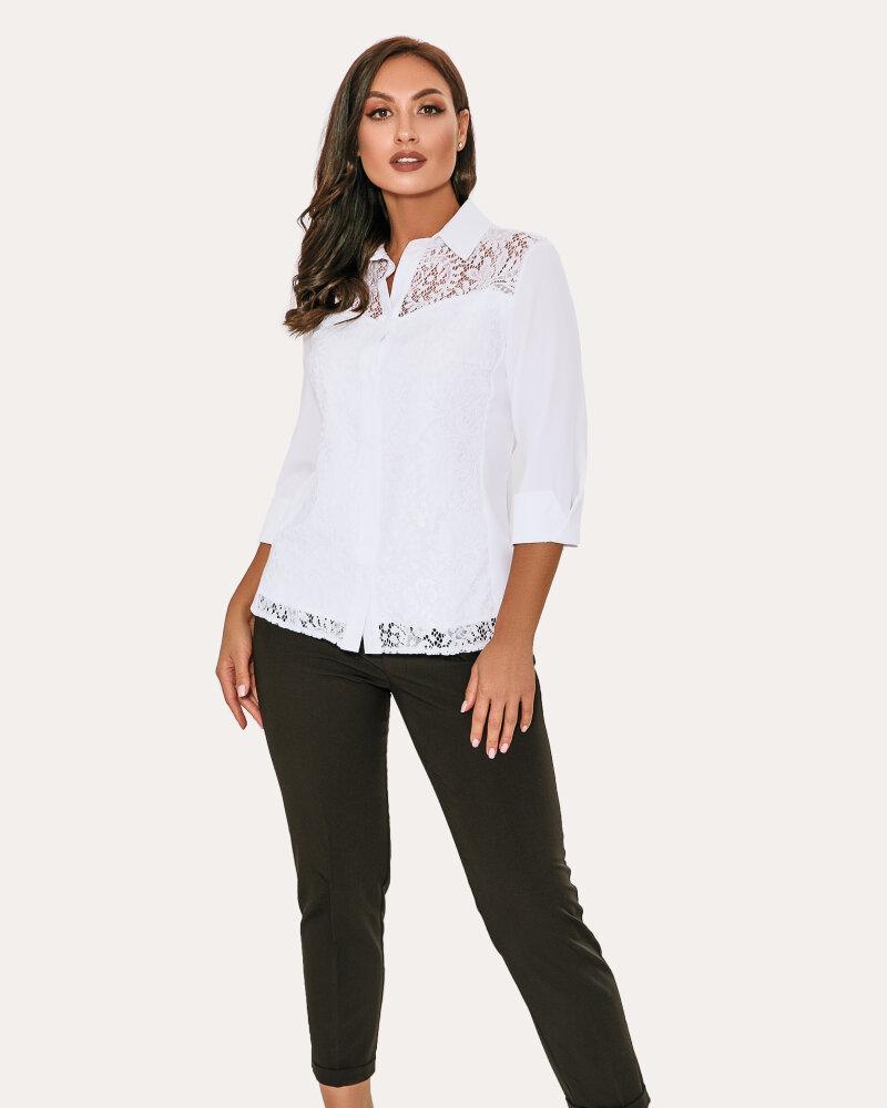 Рубашка с кружевным декором фото