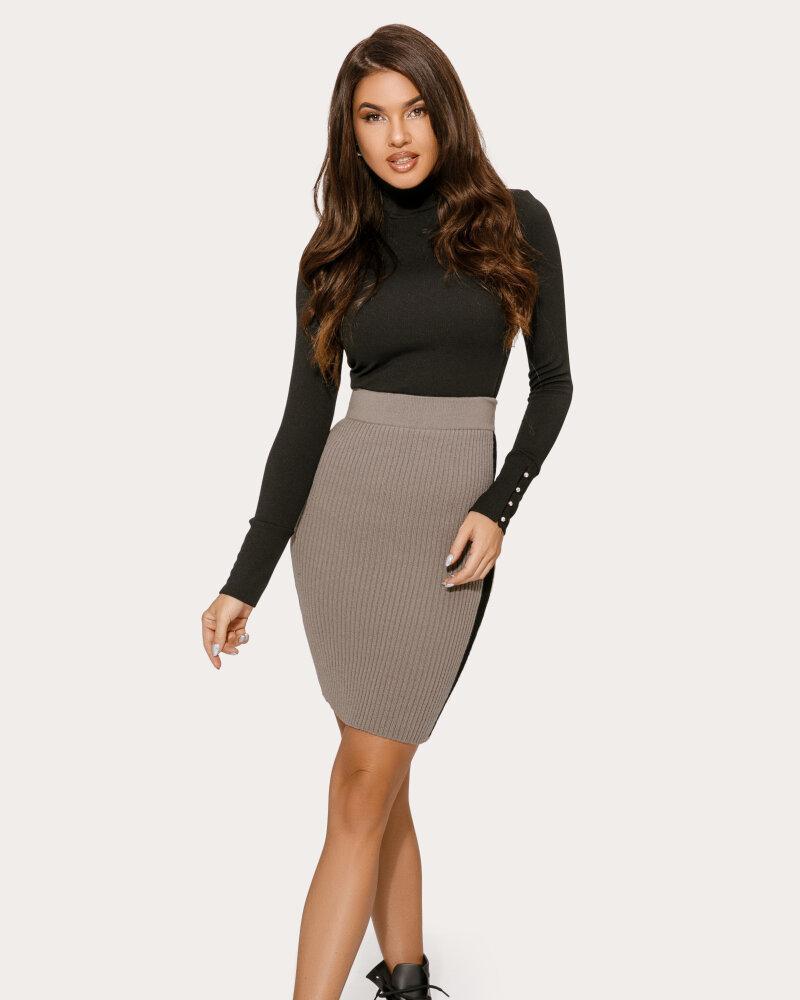 Вязаная юбка-мини с лампасами фото