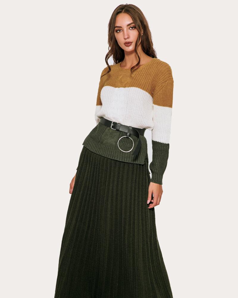 Плиссированная юбка-макси фото