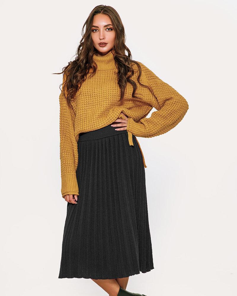 Лаконичная вязаная юбка фото