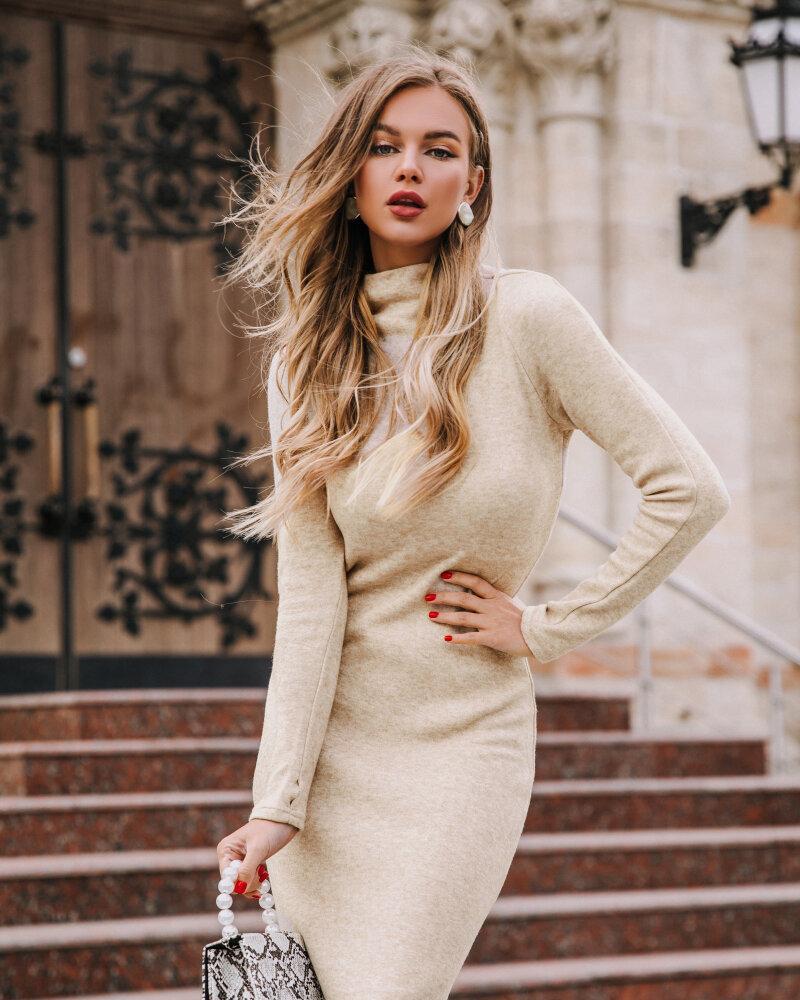 Купить Platya_teplye-platya, Приталенное теплое платье, Gepur