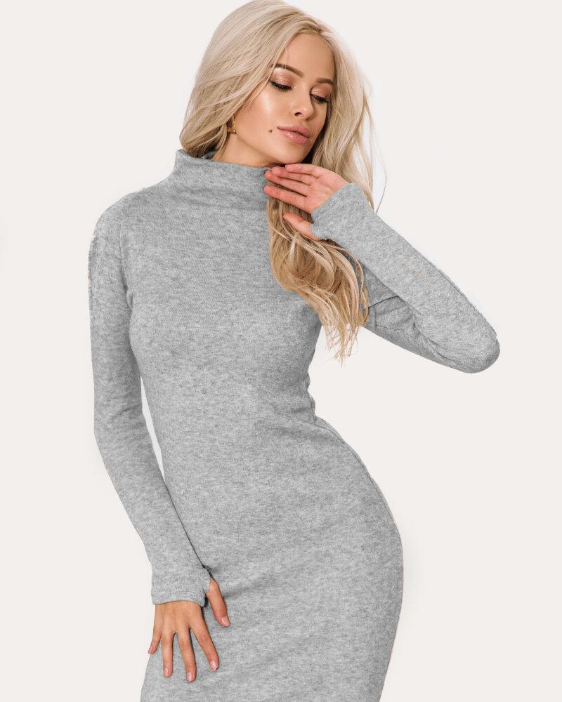 Трикотажное приталенное платье фото