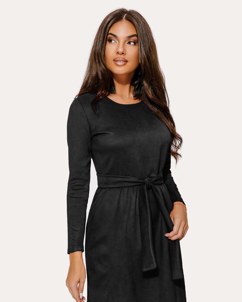 Черное платье-клеш фото