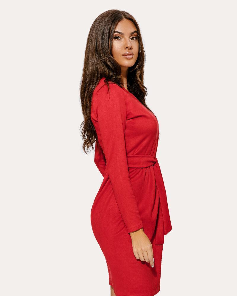 Красное платье-клеш фото