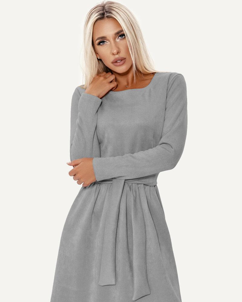 Серое платье-клеш фото