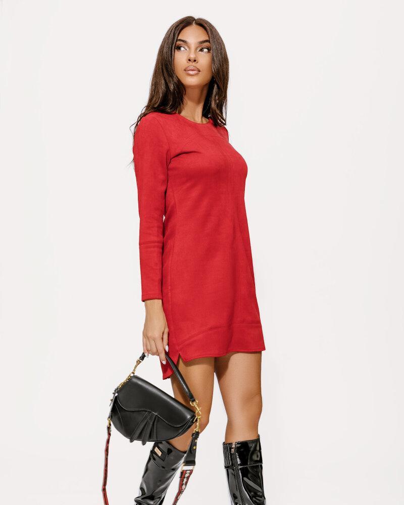 Замшевое платье красного цвета фото