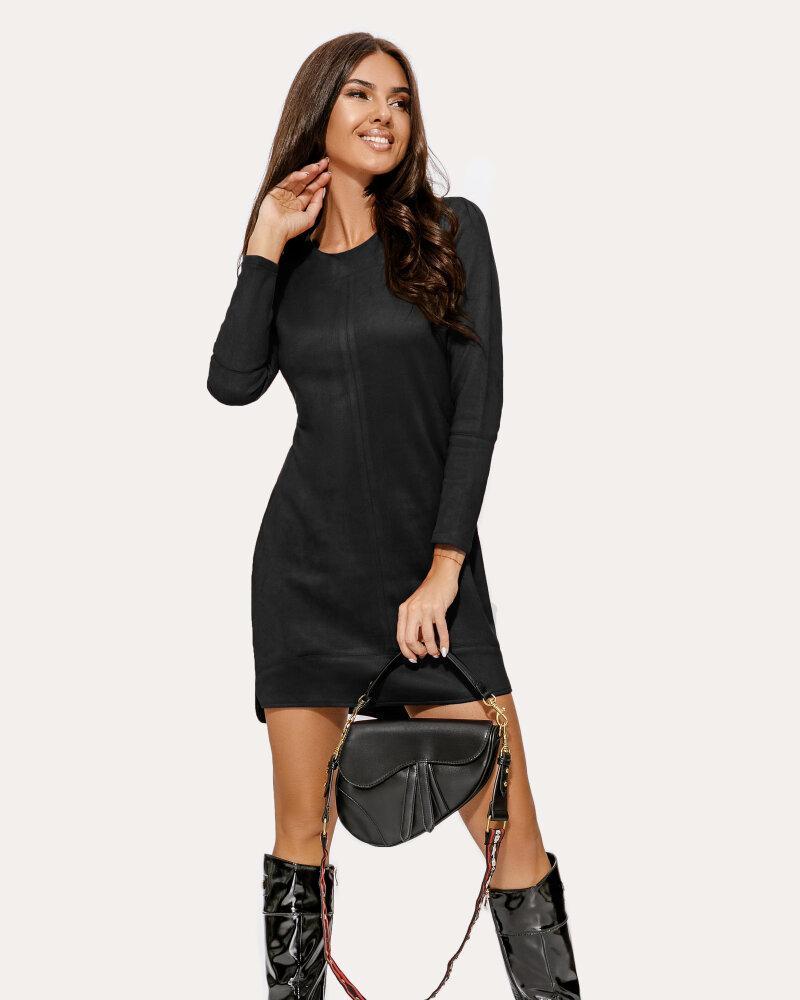 Купить Platya_teplye-platya, Замшевое платье черного цвета, Gepur