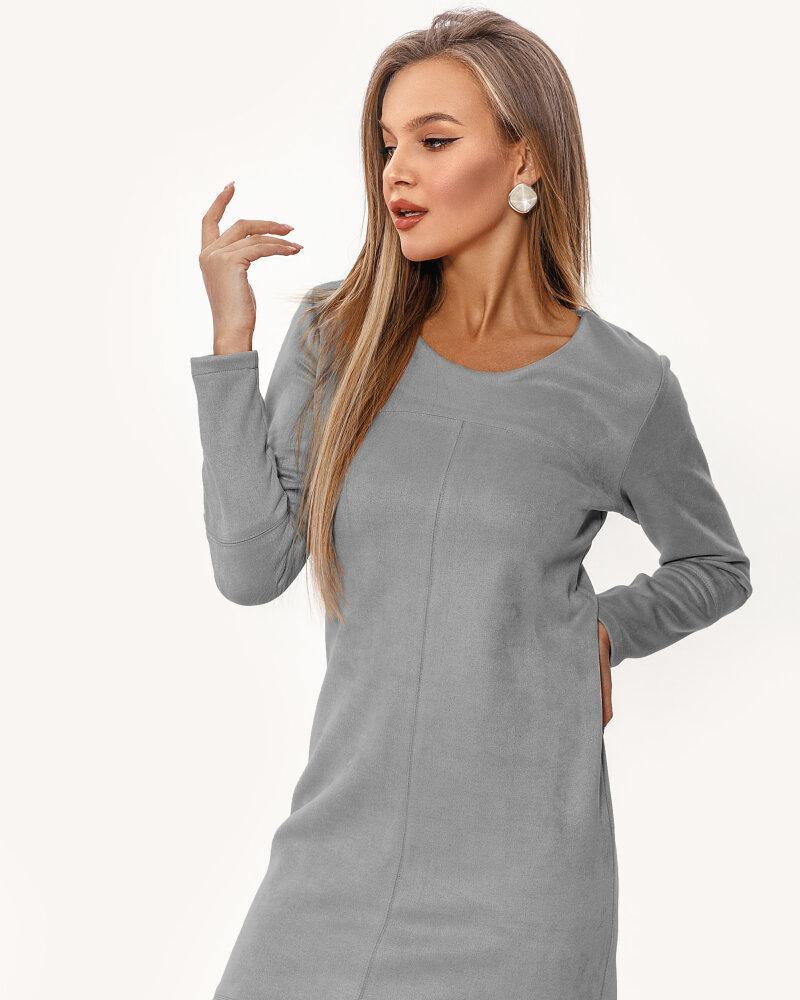 Купить Platya_teplye-platya, Замшевое платье серого цвета, Gepur
