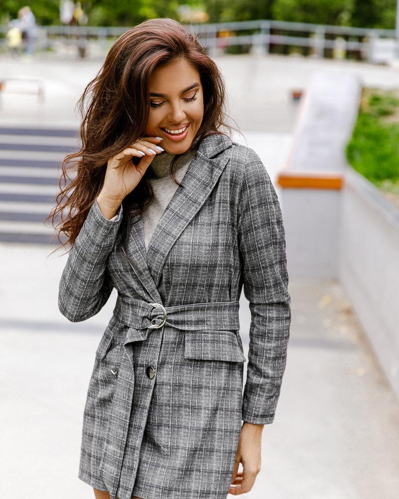 Удлиненный клетчатый пиджак фото