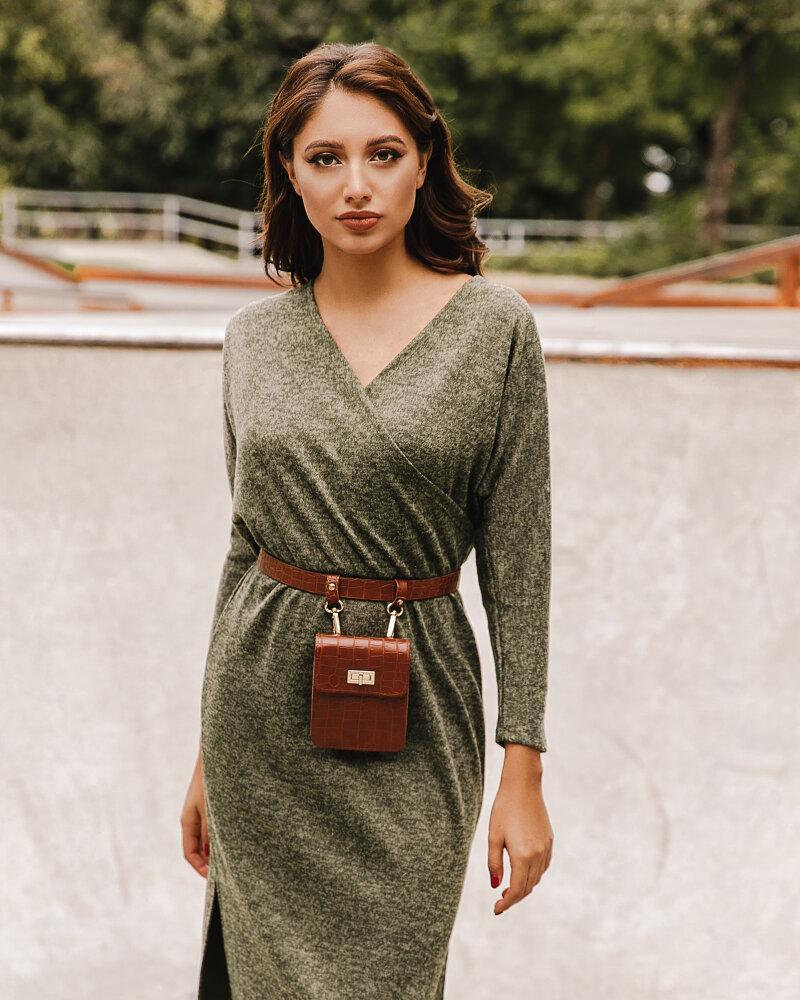 Трикотажное повседневное платье фото