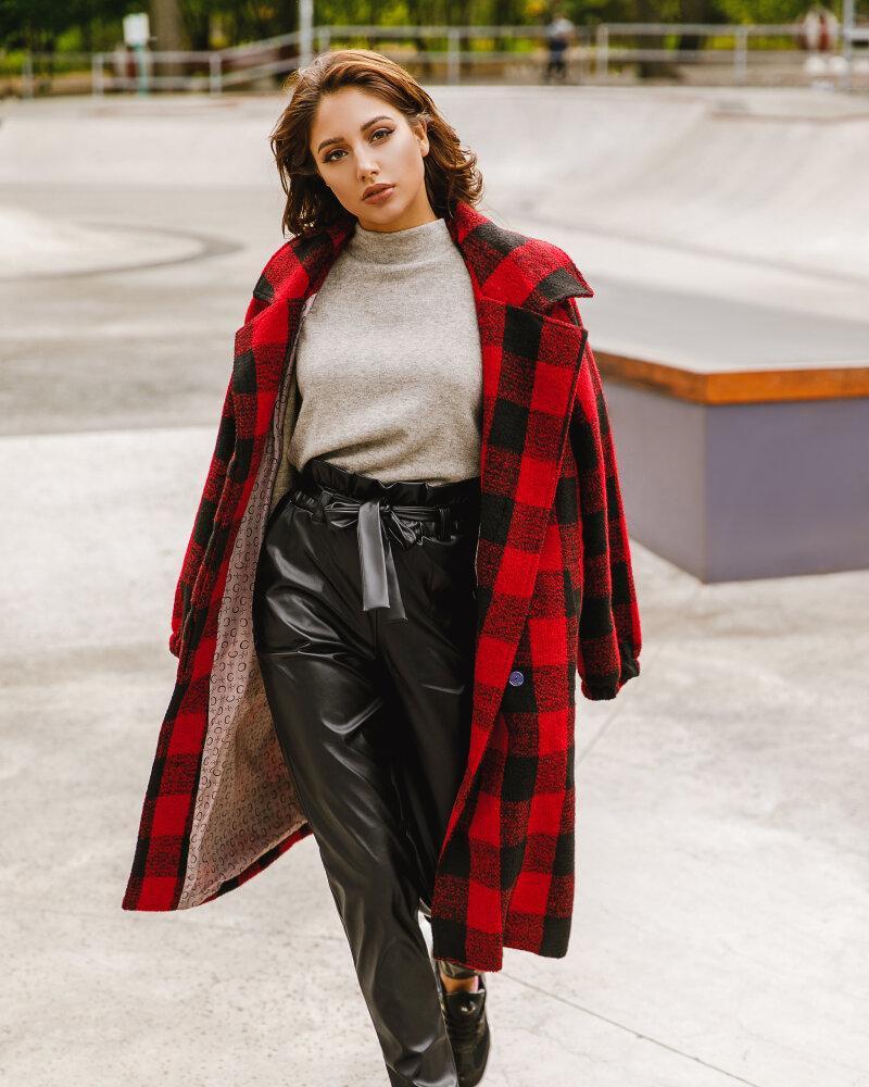 Купить Bryuki-leggensy-shorty_bryuki-leggensy-shorty-bolshie-razmery, Черные кожаные брюки, Gepur