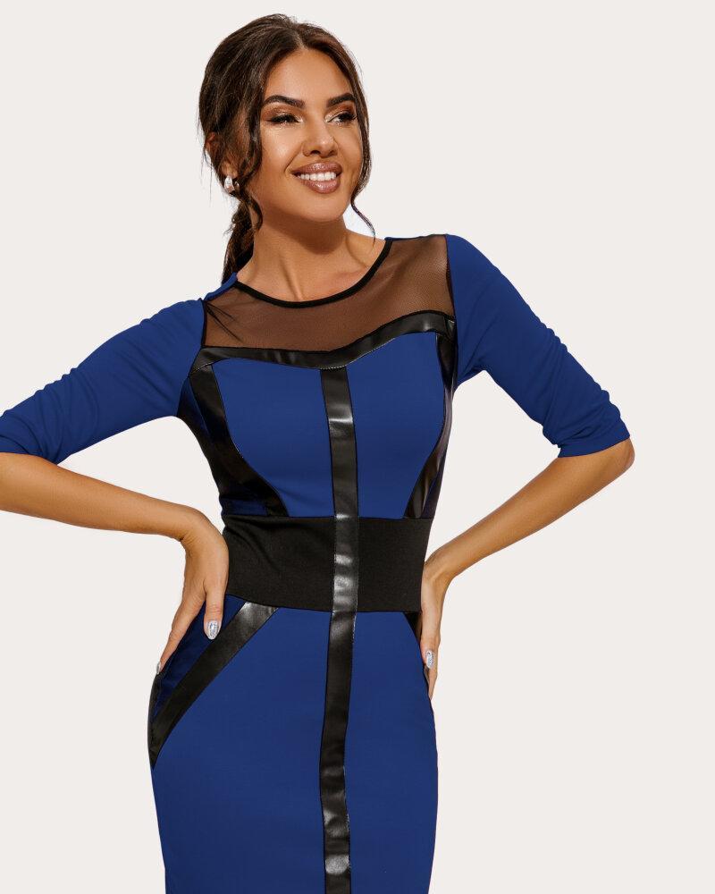 Платье с прозрачными вставками фото