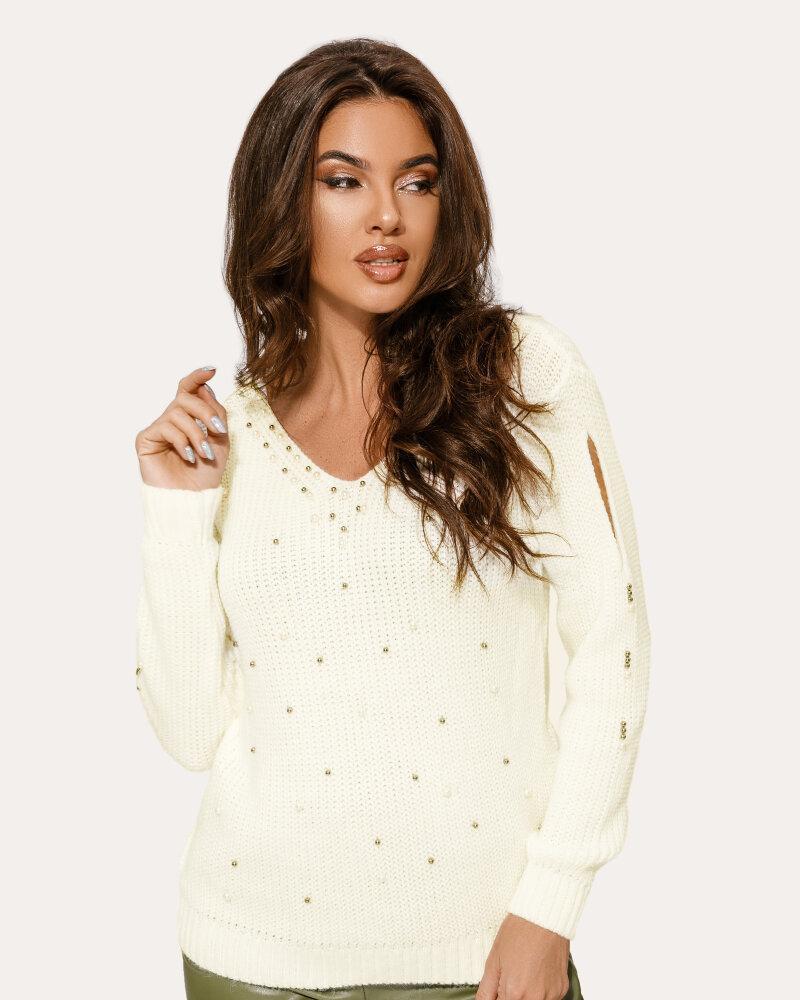 Пуловер с эффектными разрезами фото