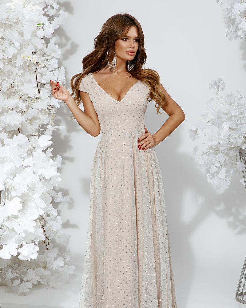 Платье в блестящий горошек фото