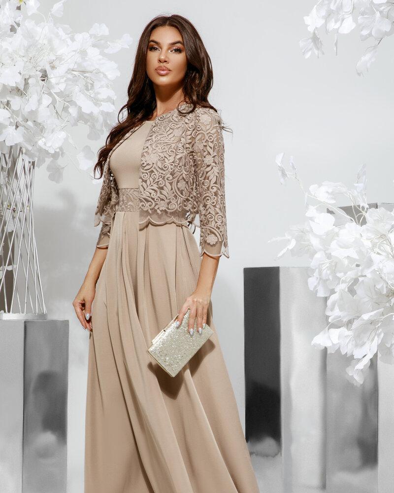 Витончене плаття-максі з болеро от Gepur