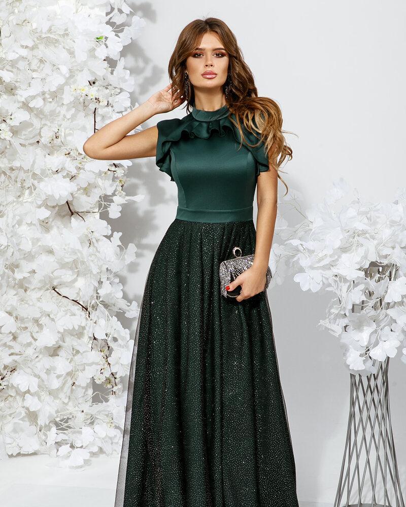 Платье с воздушными оборками фото