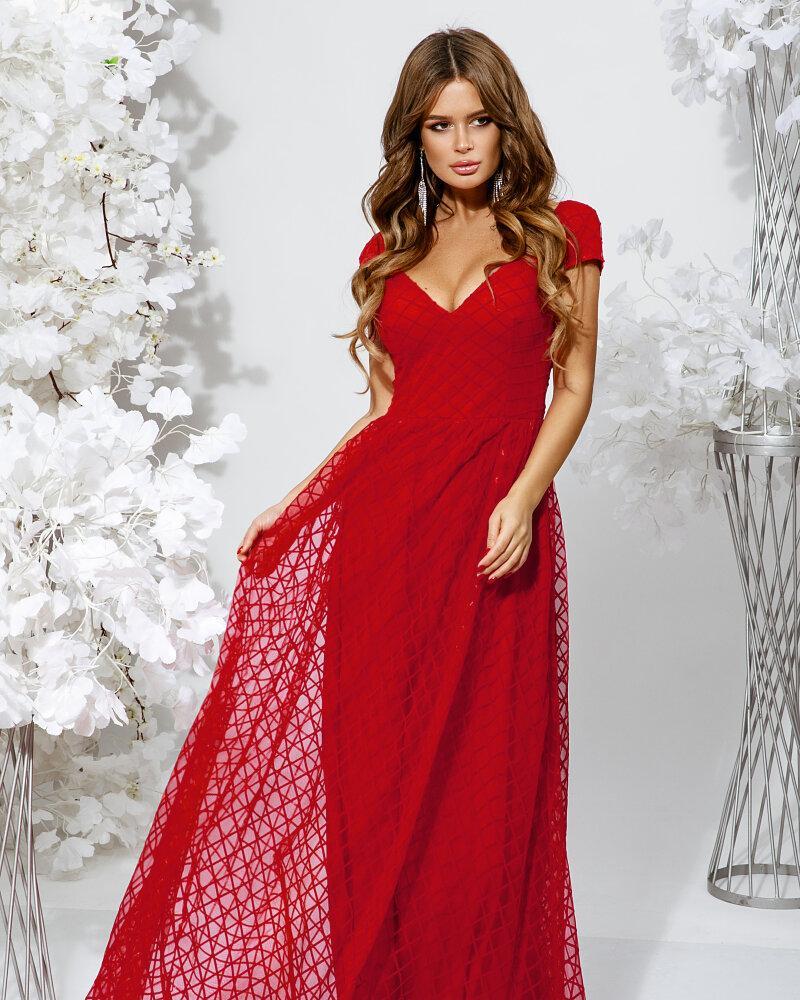 Алое длинное платье фото