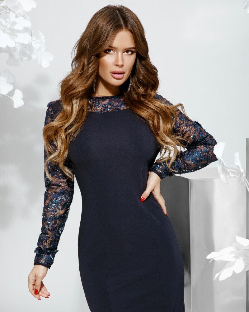 Платье с кружевной отделкой фото