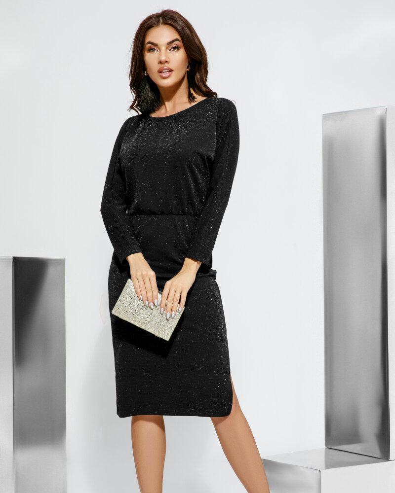 Мерцающее черное платье фото