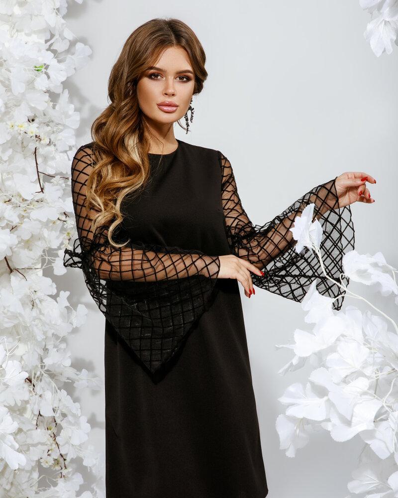 Платье с рукавом-клеш фото