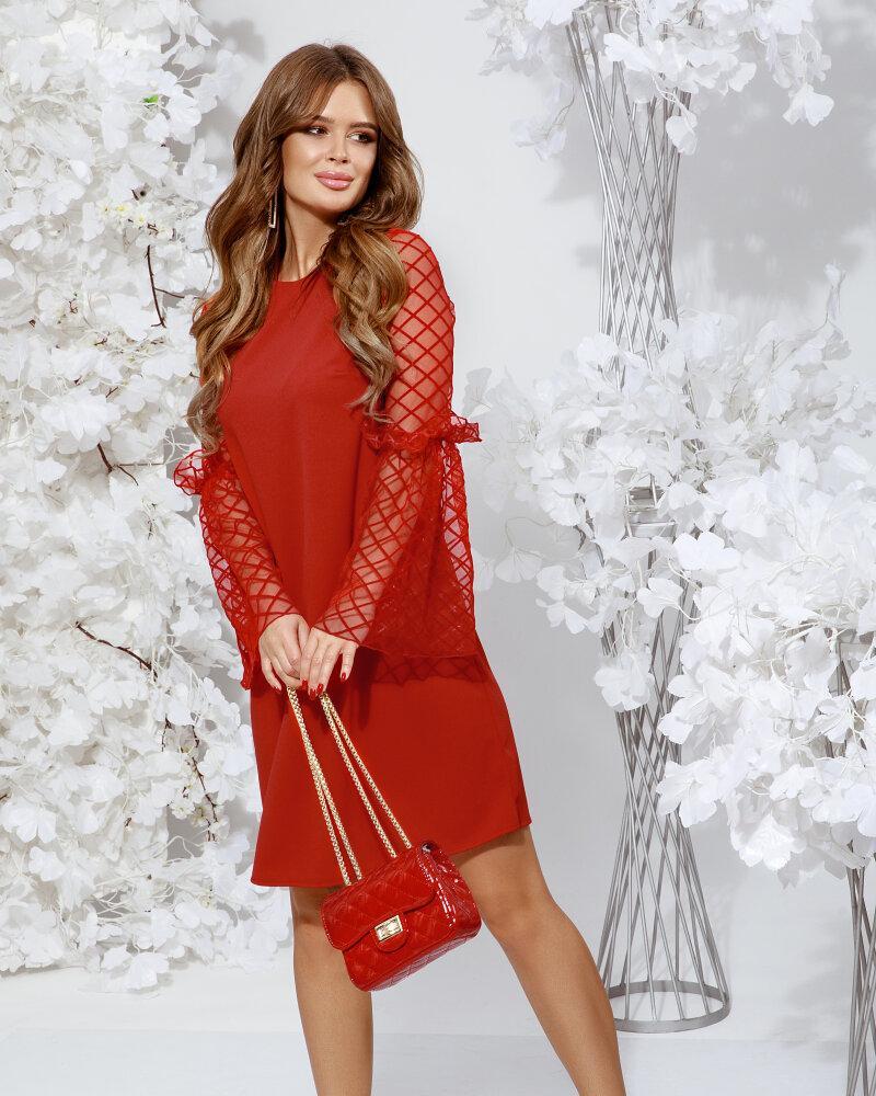 Платье с расклешенным рукавом фото