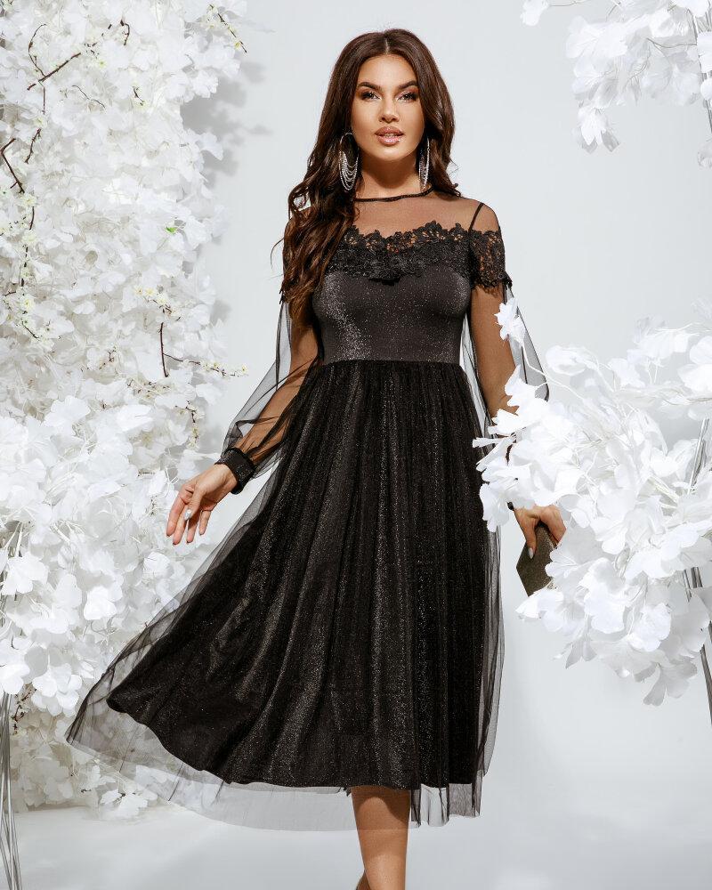 Вечернее платье черного цвета фото