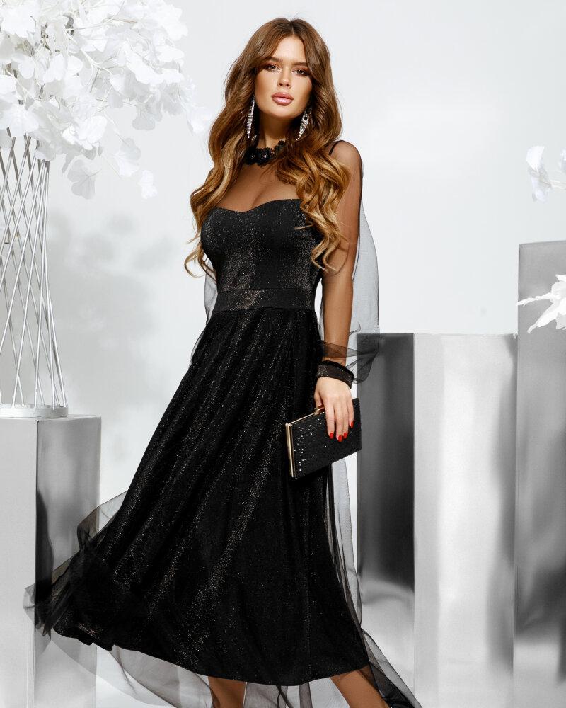 Платье с невесомым фатином фото