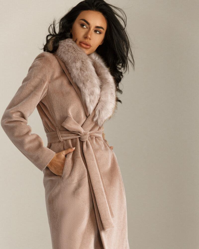 Пальто Gepur з хутряним коміром