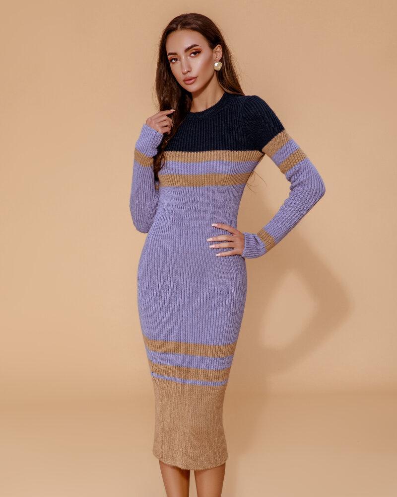Купить Platya_teplye-platya, Вязаное полосатое платье, Gepur