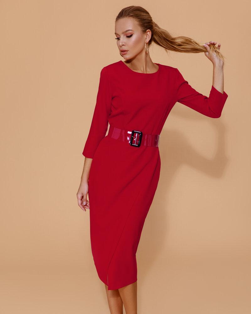 Трендовое красное платье фото